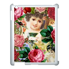 Little Girl Victorian Collage Apple Ipad 3/4 Case (white) by snowwhitegirl