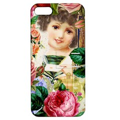 Little Girl Victorian Collage Apple Iphone 5 Hardshell Case With Stand by snowwhitegirl