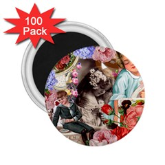 Victorian Collage 2 25  Magnets (100 Pack)  by snowwhitegirl
