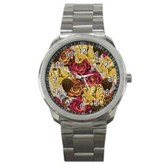 Octopus Floral Sport Metal Watch by snowwhitegirl
