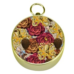 Octopus Floral Gold Compasses