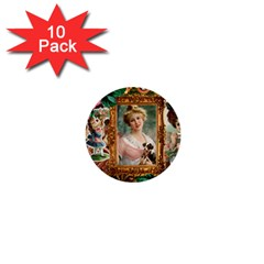 Victorian Collage Of Woman 1  Mini Buttons (10 Pack)  by snowwhitegirl