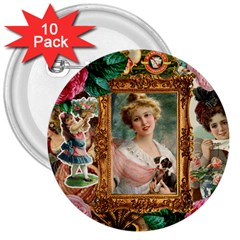 Victorian Collage Of Woman 3  Buttons (10 Pack)  by snowwhitegirl