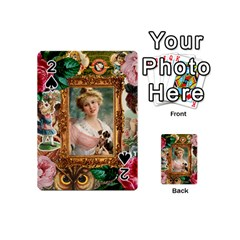 Victorian Collage Of Woman Playing Cards 54 (mini)  by snowwhitegirl