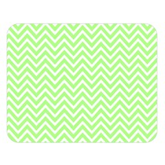 Green Chevron Double Sided Flano Blanket (large)  by snowwhitegirl