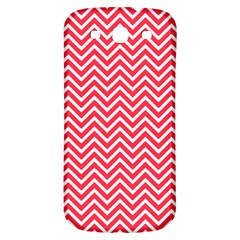Red Chevron Samsung Galaxy S3 S Iii Classic Hardshell Back Case by snowwhitegirl
