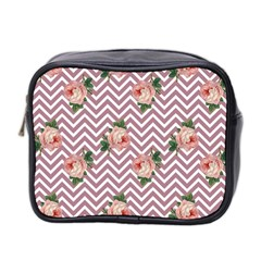 Violet Chevron Rose Mini Toiletries Bag 2 Side by snowwhitegirl