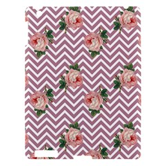Violet Chevron Rose Apple Ipad 3/4 Hardshell Case by snowwhitegirl