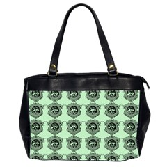 Three Women Green Office Handbags (2 Sides)