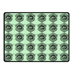 Three Women Green Double Sided Fleece Blanket (small)  by snowwhitegirl