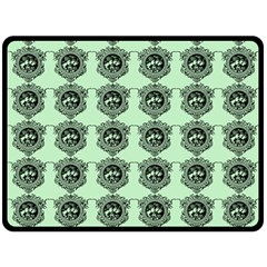 Three Women Green Double Sided Fleece Blanket (large)  by snowwhitegirl