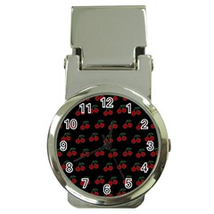 Cherries Black Money Clip Watches by snowwhitegirl