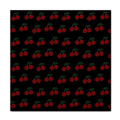 Cherries Black Face Towel by snowwhitegirl