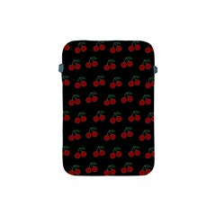 Cherries Black Apple Ipad Mini Protective Soft Cases by snowwhitegirl