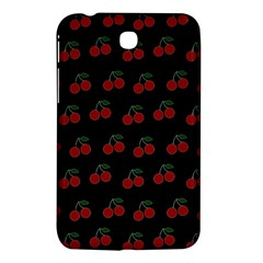 Cherries Black Samsung Galaxy Tab 3 (7 ) P3200 Hardshell Case  by snowwhitegirl