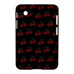 Cherries Black Samsung Galaxy Tab 2 (7 ) P3100 Hardshell Case  by snowwhitegirl