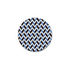 Chevron Blue Brown Golf Ball Marker by snowwhitegirl