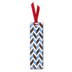 Chevron Blue Brown Small Book Marks by snowwhitegirl