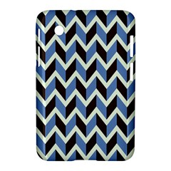 Chevron Blue Brown Samsung Galaxy Tab 2 (7 ) P3100 Hardshell Case  by snowwhitegirl