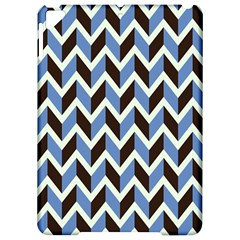 Chevron Blue Brown Apple Ipad Pro 9 7   Hardshell Case by snowwhitegirl