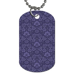 Damask Purple Dog Tag (two Sides) by snowwhitegirl