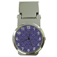 Damask Purple Money Clip Watches by snowwhitegirl