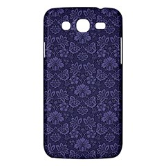 Damask Purple Samsung Galaxy Mega 5 8 I9152 Hardshell Case  by snowwhitegirl