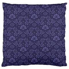 Damask Purple Standard Flano Cushion Case (one Side) by snowwhitegirl