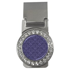 Damask Purple Money Clips (cz)  by snowwhitegirl