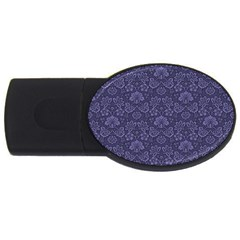 Damask Purple Usb Flash Drive Oval (4 Gb) by snowwhitegirl