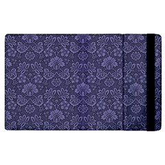 Damask Purple Apple Ipad 3/4 Flip Case by snowwhitegirl