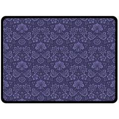 Damask Purple Double Sided Fleece Blanket (large)  by snowwhitegirl