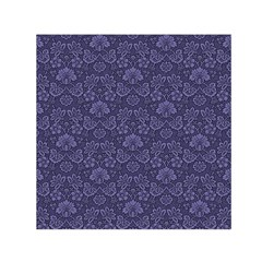 Damask Purple Small Satin Scarf (square) by snowwhitegirl