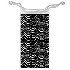 Dark Abstract Pattern Jewelry Bag by dflcprints