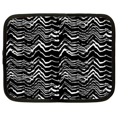 Dark Abstract Pattern Netbook Case (large) by dflcprints