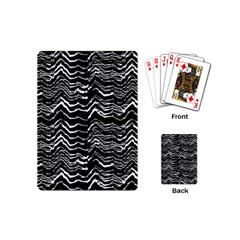 Dark Abstract Pattern Playing Cards (mini)  by dflcprints
