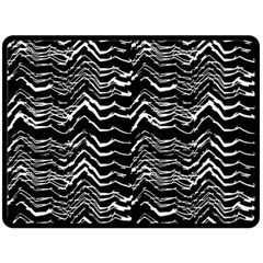 Dark Abstract Pattern Double Sided Fleece Blanket (large)  by dflcprints