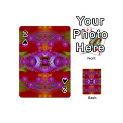 Shimmering Pond With Lotus Bloom Playing Cards 54 (mini)  by pepitasart