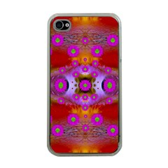 Shimmering Pond With Lotus Bloom Apple Iphone 4 Case (clear) by pepitasart