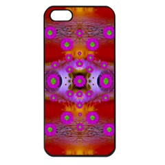 Shimmering Pond With Lotus Bloom Apple Iphone 5 Seamless Case (black) by pepitasart