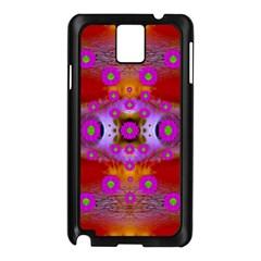 Shimmering Pond With Lotus Bloom Samsung Galaxy Note 3 N9005 Case (black) by pepitasart