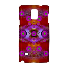 Shimmering Pond With Lotus Bloom Samsung Galaxy Note 4 Hardshell Case by pepitasart