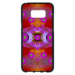 Shimmering Pond With Lotus Bloom Samsung Galaxy S8 Plus Black Seamless Case by pepitasart
