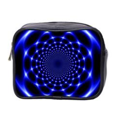 Indigo Lotus 2 Mini Toiletries Bag 2 Side by vwdigitalpainting