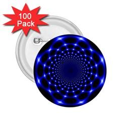 Indigo Lotus 2 2 25  Buttons (100 Pack)  by vwdigitalpainting