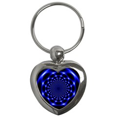 Indigo Lotus 2 Key Chains (heart)  by vwdigitalpainting