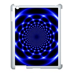 Indigo Lotus  Apple Ipad 3/4 Case (white) by vwdigitalpainting