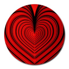 Ruby s Love 20180214072910091 Round Mousepads by ThePeasantsDesigns