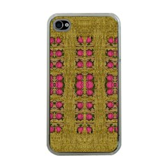 Bloom In Gold Shine And You Shall Be Strong Apple Iphone 4 Case (clear) by pepitasart