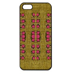 Bloom In Gold Shine And You Shall Be Strong Apple Iphone 5 Seamless Case (black) by pepitasart
